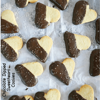 Chocolate Dipped Sweetheart Cookies