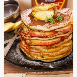 Apple Pie Whole Wheat Pancakes