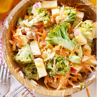 Broccoli, Apple and Walnut Salad