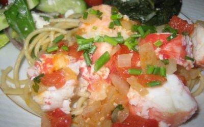 Crab with Tequila Cilantro Sauce
