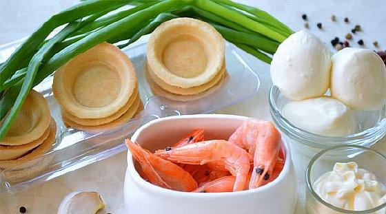 Тарталетки с креветками и сыром рецепты тарталеток с ...