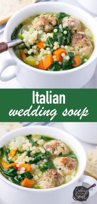 Italian Wedding Soup with Easy Meatballs