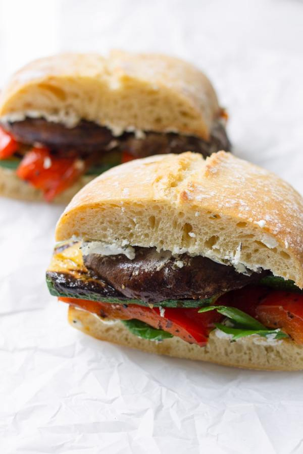 Roasted Veggie Sandwich with Greens