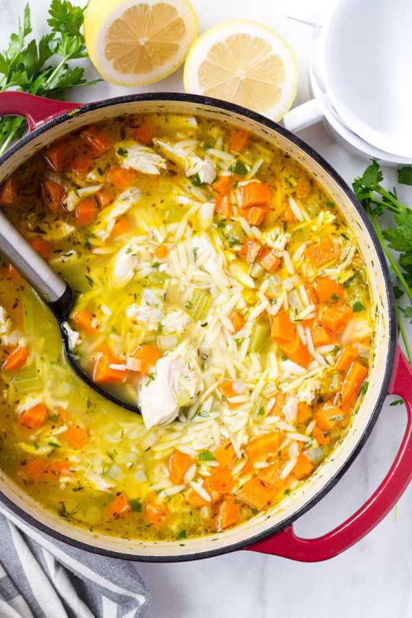 Turkey Orzo Soup One Pot