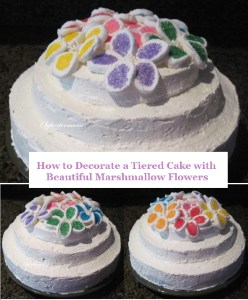 How to Decorate a Cake with Marshmallow Flowers