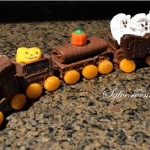 How to Make a Chocolate Halloween Ghost Train Cake