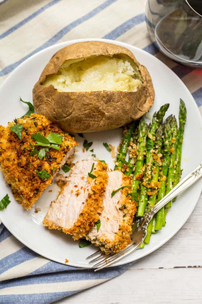 Baked Crunchy Pork Chops Recipe