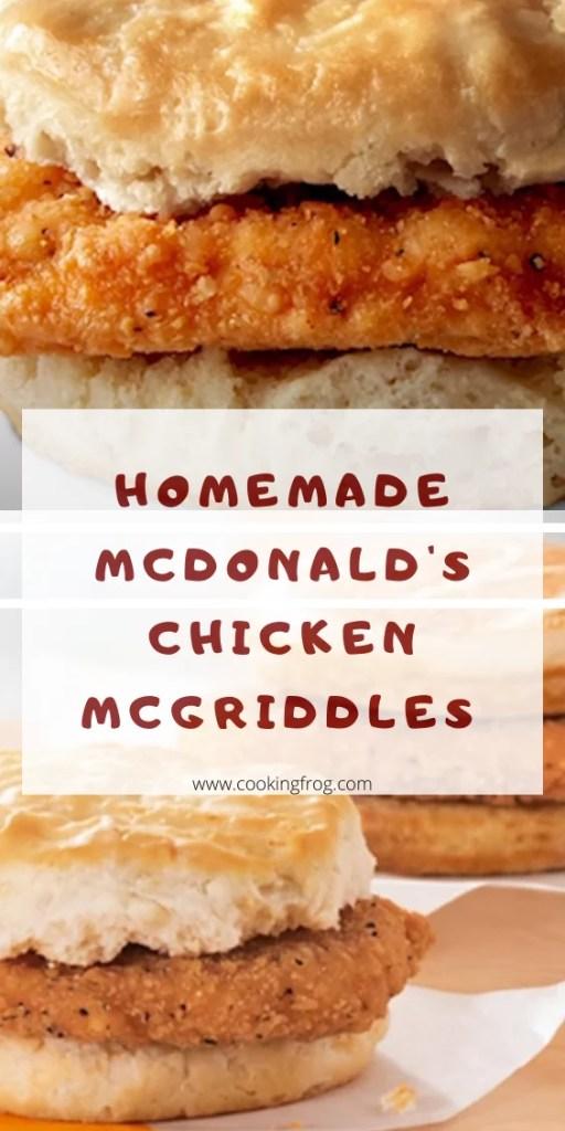 Homemade McDonald's Chicken McGriddles