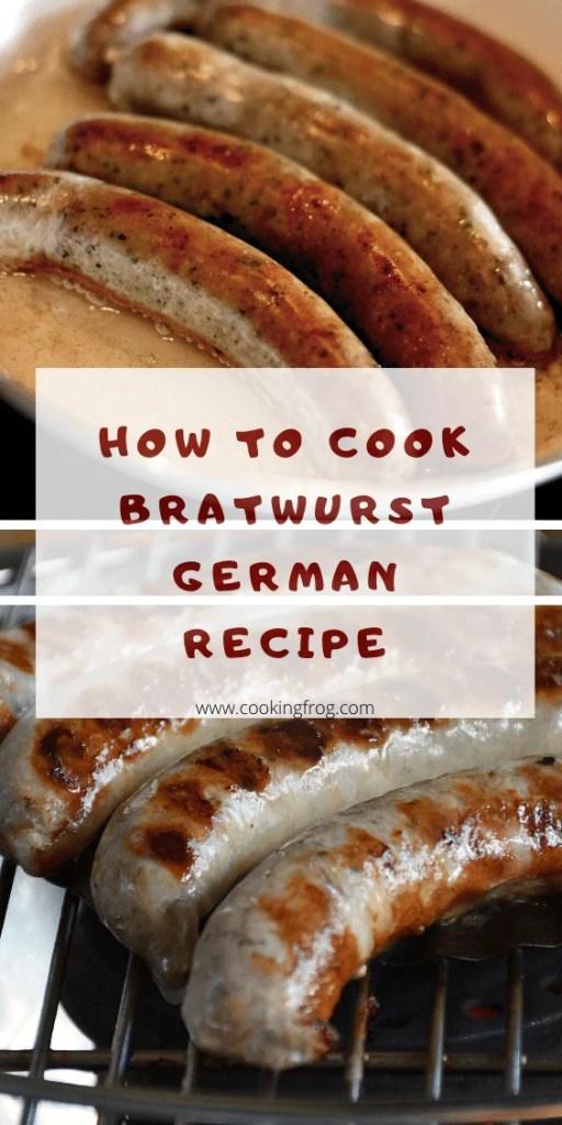 How to cook bratwurst german recipe