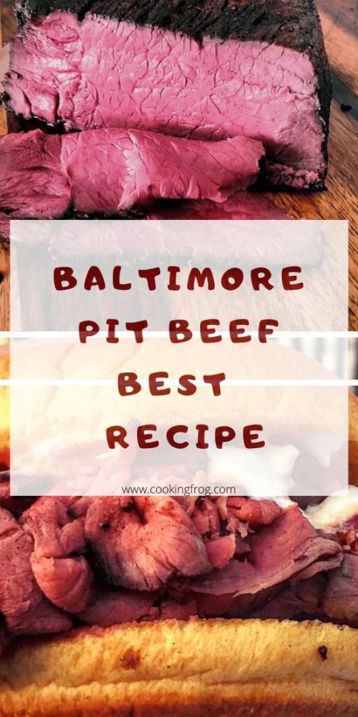 Baltimore Pit Beef Recipe