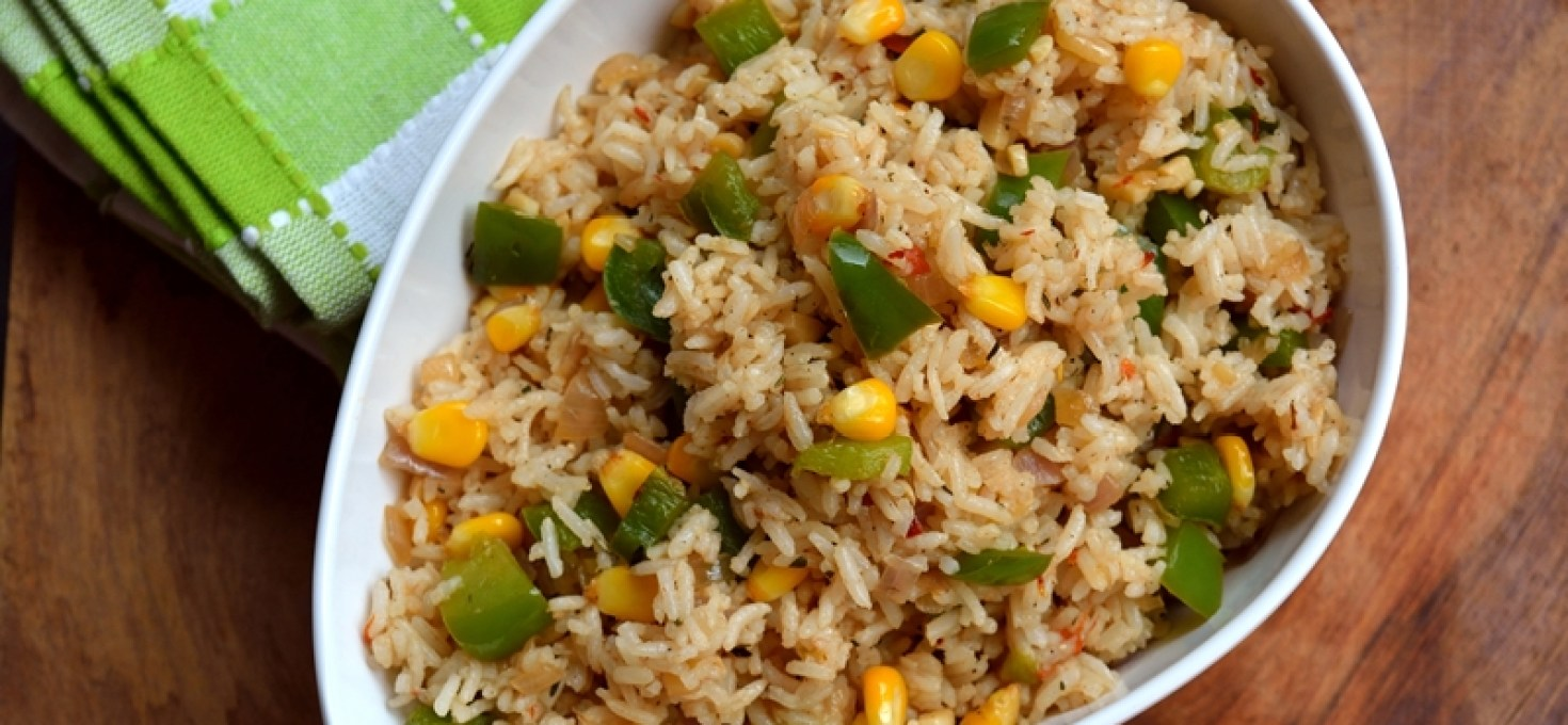 Mexican Style Capsicum Sweetcorn Rice