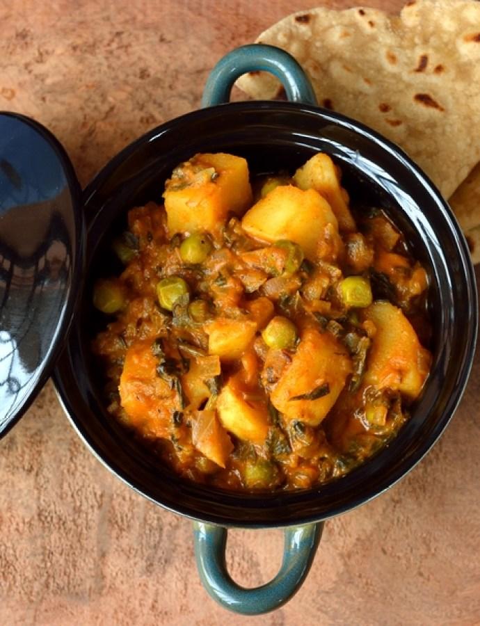 Aloo Methi Matar – Gravy Style