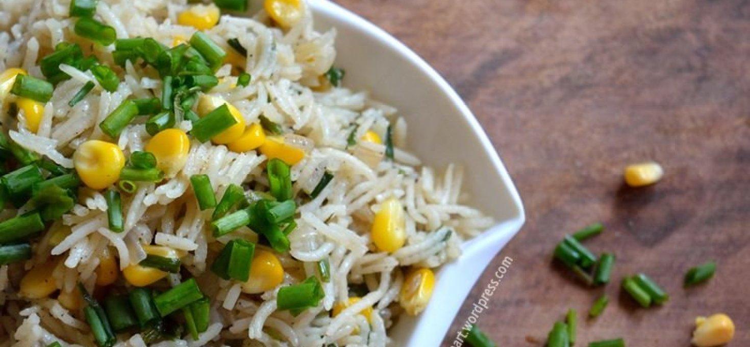 Sweetcorn Spring Onion Rice
