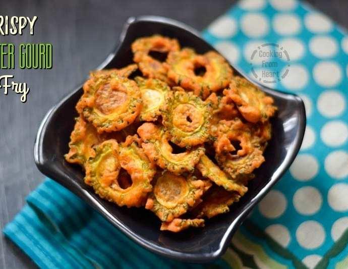 Crispy Bitter Gourd Fries | Pavakai Varuval | Kakarakaya Vepudu