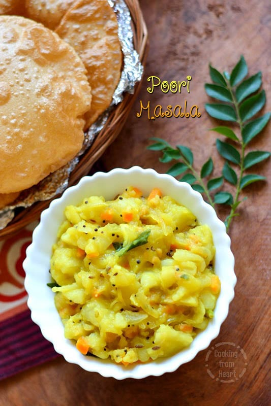 Poori Masala | Simple Potato Masala | Potato Curry