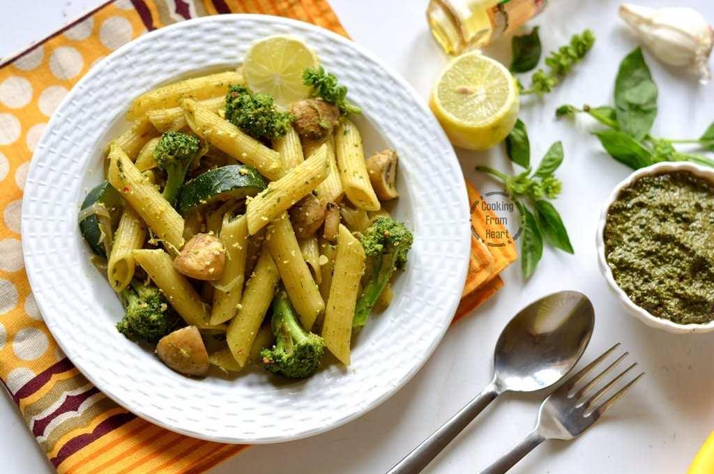 Pesto Pasta with Vegetables | Easy Vegatable Pesto Pasta