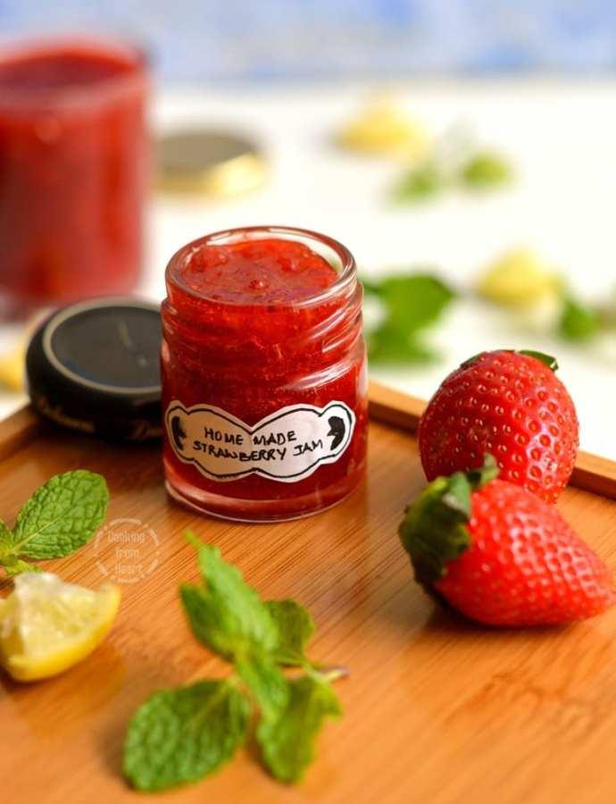 Homemade Strawberry Jam | Easy Strawberry Jam