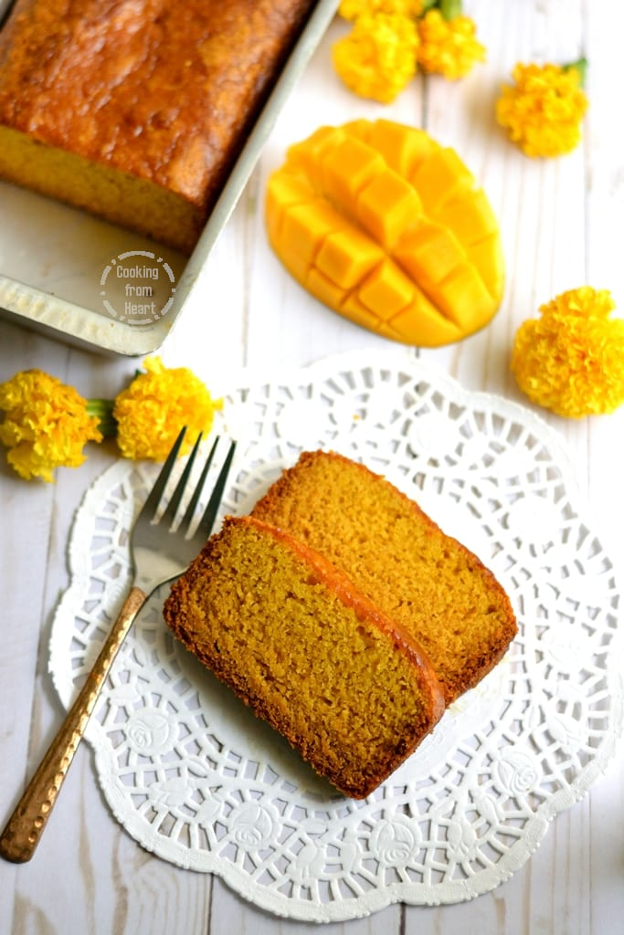 Mango Cake with no butter or no eggs