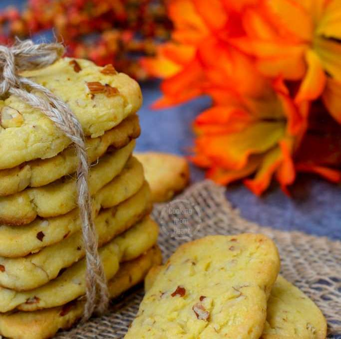 Almond Orange Shortbread Cookies