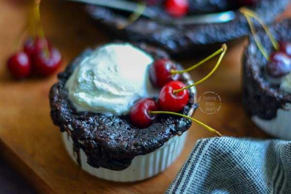 Chocolate Cherry Self Saucing Pudding