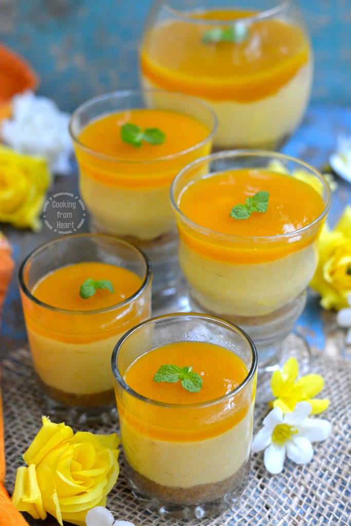 No-Bake Mango Cheesecake with Agar Agar