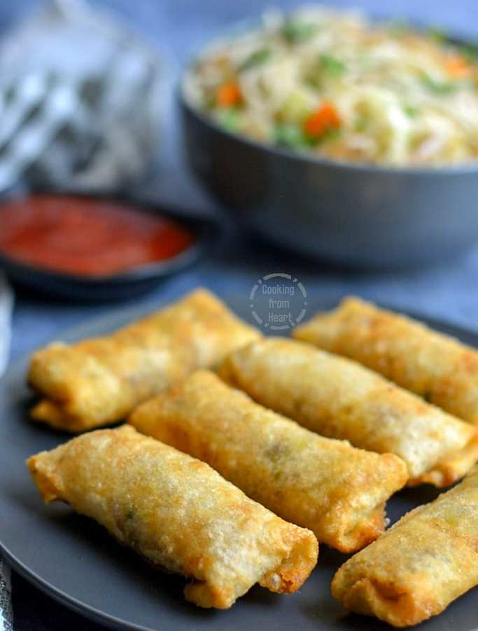 Vegetable Spring Rolls | Veg Spring Rolls