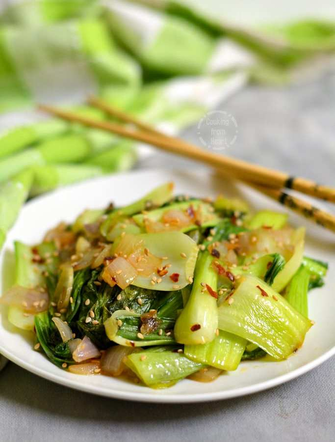 Bok Choy Stir-Fry | Stir-Fried Bok Choy with Garlic