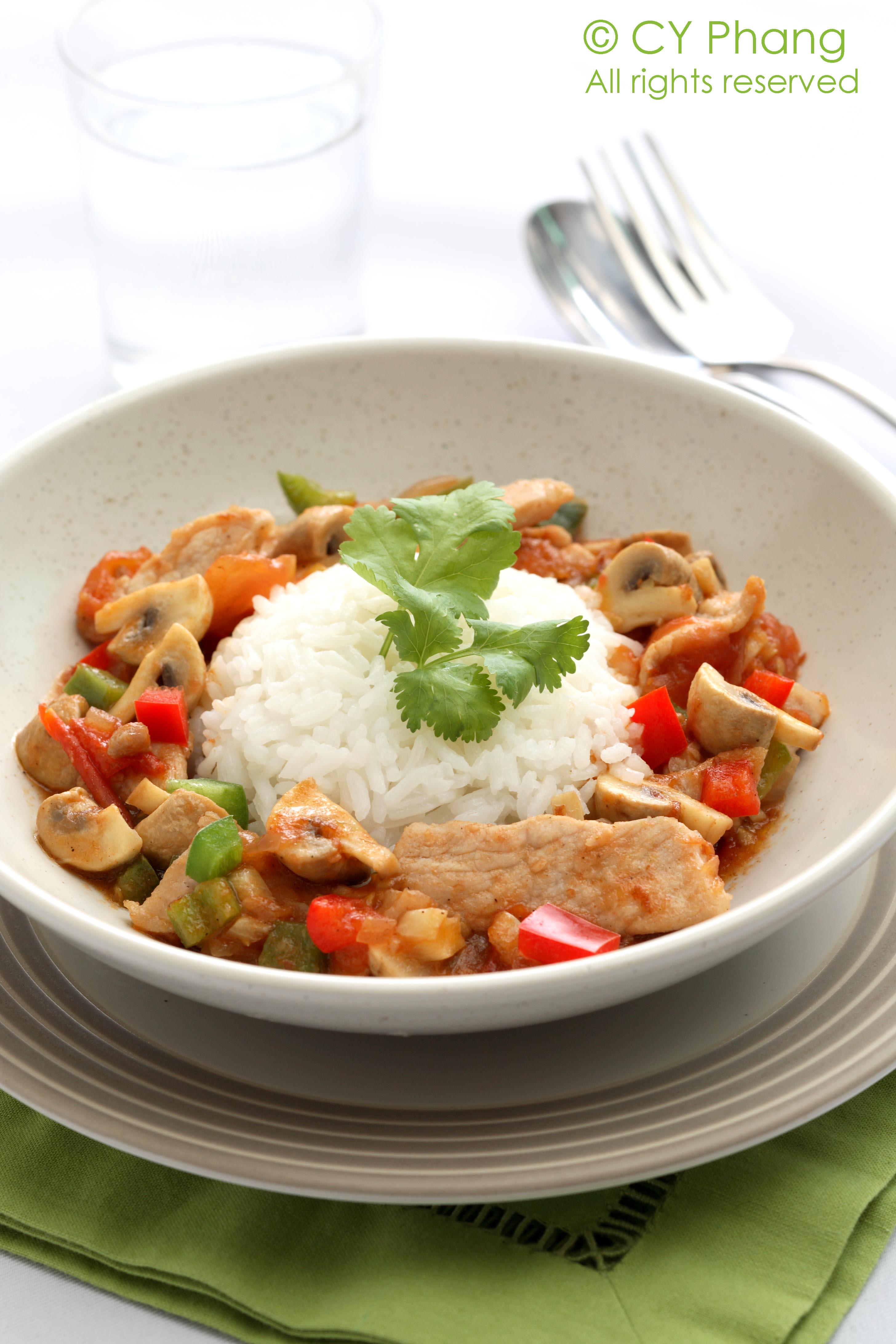 Sweet sour pork chop rice-IMG_6467-cloudy copy