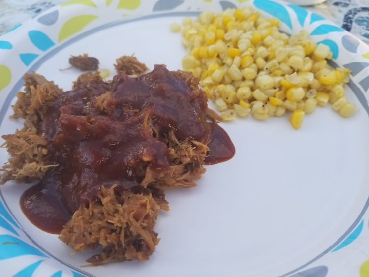 pulled pork with barbecue sauce