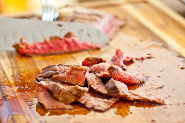 thin sliced steak