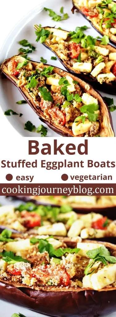 Stuffed Eggplant Boats