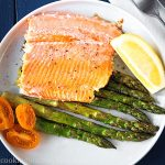 Roasted trout with asparagus - Baked trout - Fish recipes