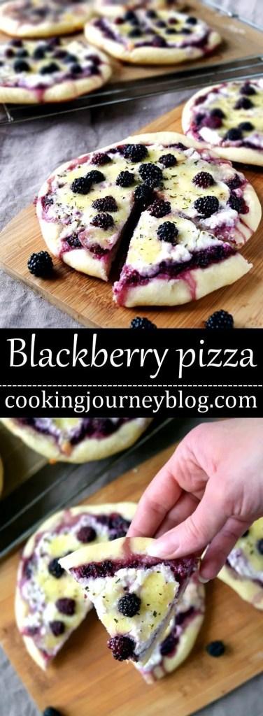 Blackberry Ricotta Pizza - Vegetarian pizza