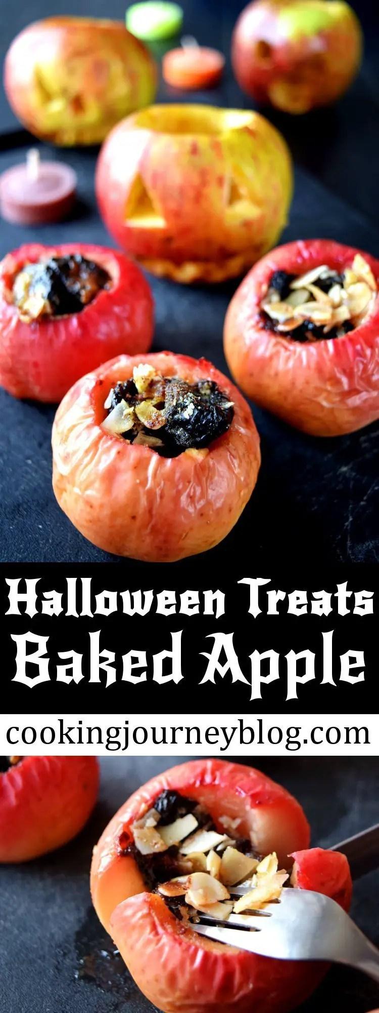 Baked apple – Healthy Halloween treats