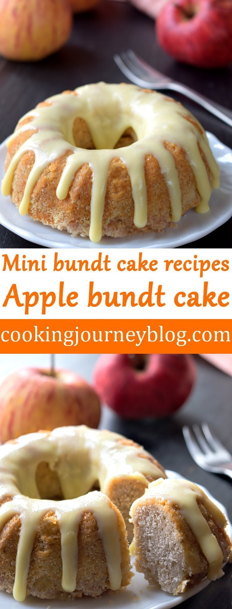 Apple bundt cake - Mini bundt cake recipes - Cooking Journey