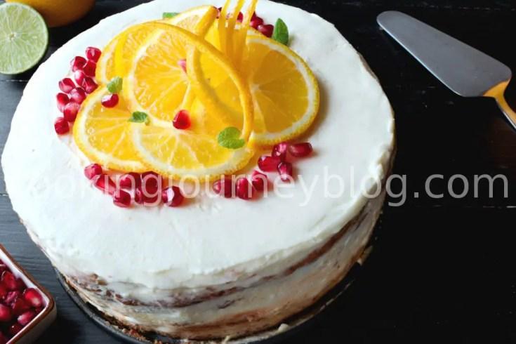 Orange cake - Rustic cake