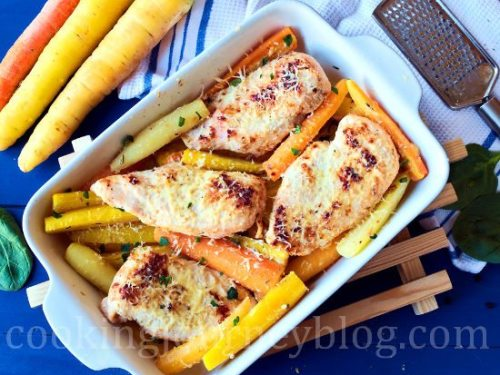 Baked chicken breast roasted carrots easter dinner ideas forumfinder Image collections
