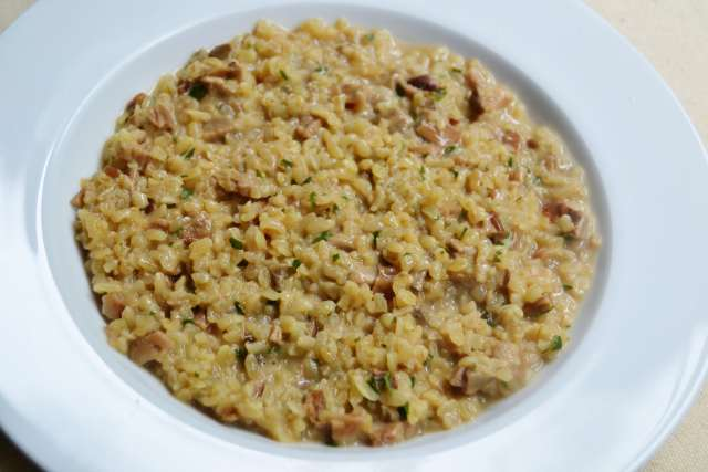 Creamy Bulgur with Porcini mushrooms