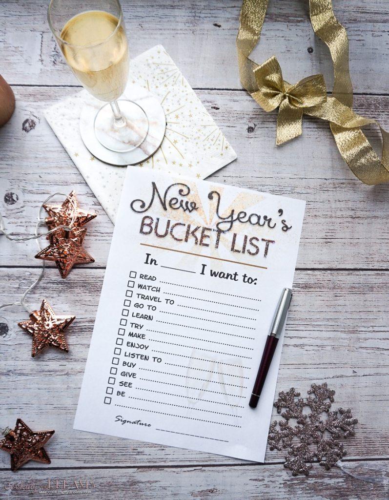 printed customizable bucket list