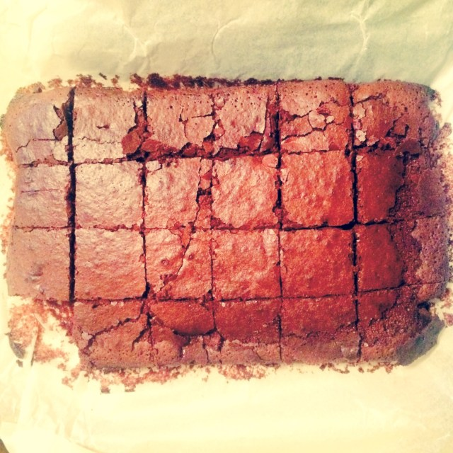 Double chocolate Guinness birthday brownies photo by Jack Monroe