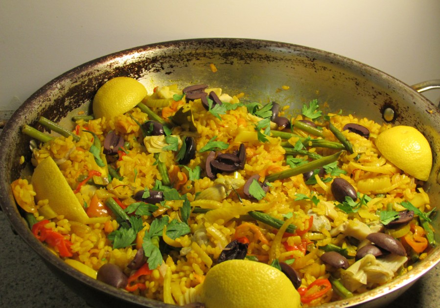 vegetable paella