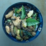 Thai Basil Chicken With Zucchini and Mushrooms