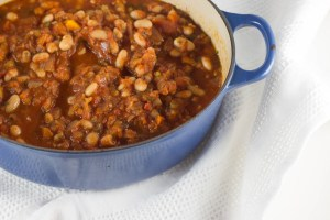 greek style baked beans