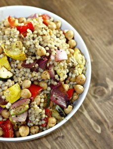 grilled veggie couscous salad