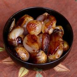 Crown Roast roasted shallots