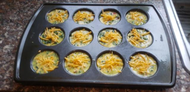 Breakfast Egg Muffins ready for the oven