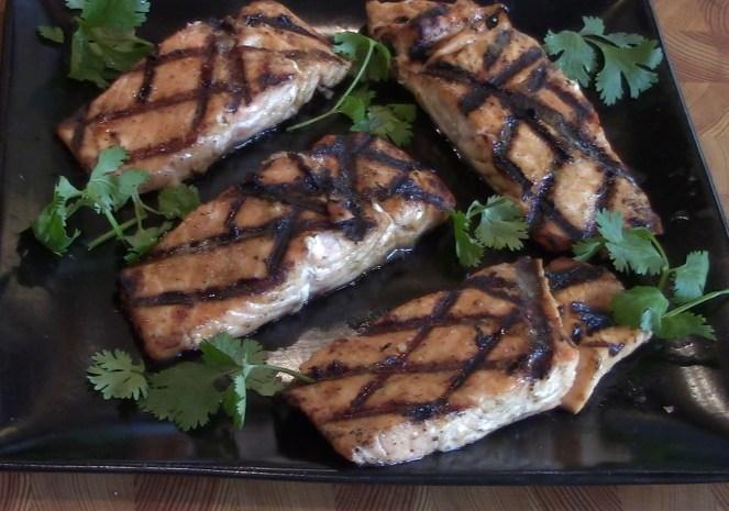 Grilled Salmon Honey Mustard