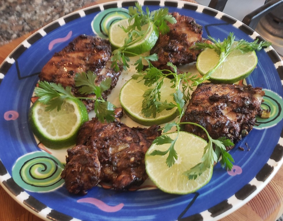Jamaican Jerk Chicken Thighs