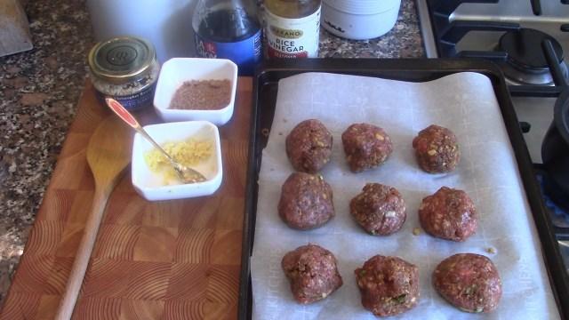 Chicken Meatballs uncooked