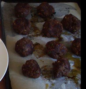 Korean Meatballs Cooked
